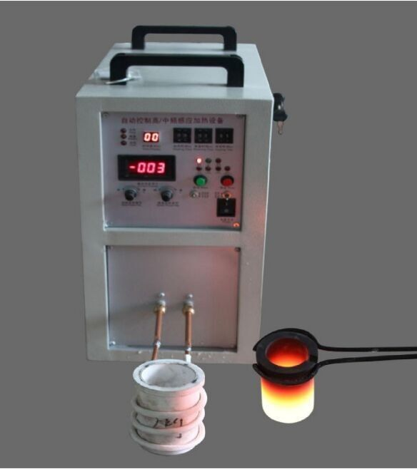 Portable Gold Mini Melting Furnace , Gold Induction Melting Machine , Gold Melting Equipment